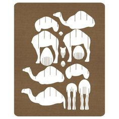 Nativity play camel? Dromedary puzzle 3d animali carta Laser cut template