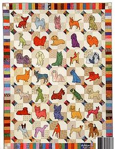 Darling Dogs Quilt by Darcy Ashton