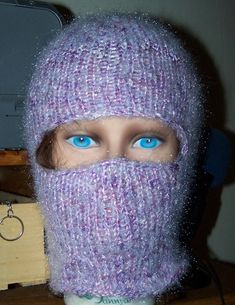 Hey, I found this really awesome Etsy listing at https://www.etsy.com/listing/170291742/mohair-balaclava-purple-hand-knit-fuzzy