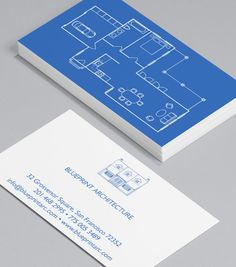 House home remodeling renovation construction business card floor plan stylish sleek and informative these blueprint business cards are a subtle colourmoves