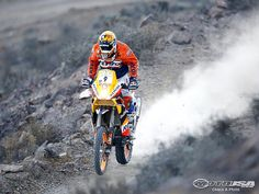 Jordi Viladoms (Esp – KTM) Rally Dakar...  IN THE AIR!!!!!!