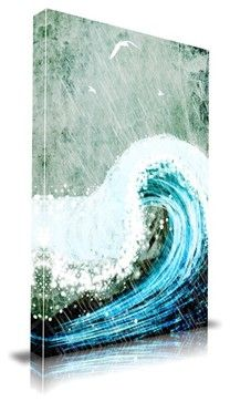 """'The Great Wave' Print by Maxwell Dickson, 24"""" x 36"""" - modern - Prints And Posters - Apt2B"""