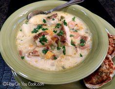 How Do You Cook.com: Catfish Corn Chowder