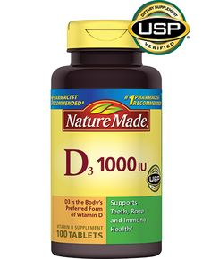 Support your overall health with vitamin D. Nature Made® Vitamin D contains D3, your body's preferred form of Vitamin D. Vitamin D3 is more effective at raising and maintaining adequate levels of vitamin D in the body.
