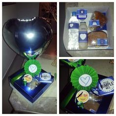 Caja decorada para desayuno ♥ Motivo: Amor Evento: Cumple Mes