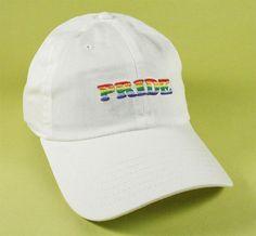 NEW PRIDE Baseball Hat Dad Hat Low Profile White Pink Black