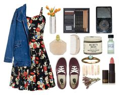 """""""summer memories"""" by atylol ❤ liked on Polyvore featuring Dot & Bo, HAY, Burt's Bees, Vans and Lipstick Queen"""