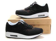 Nike Air Max 1 Mensen Zwart Zwart Bruin