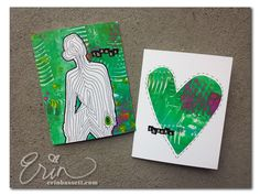 Fitcation Thank You Cards with a Gelli printing plate!