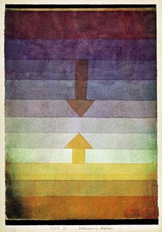 Separation in the evening - Paul Klee (1922)