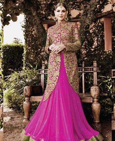 Buy Marvelous Pink Lehenga Choli online at  https://www.a1designerwear.com/marvelous-pink-lehenga-choli-15  Price: $194.38 USD