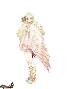 BROCCOLI, End Breaker!, Wordsworth Yuyura, Red Flower, Bird Person, Feather Wings