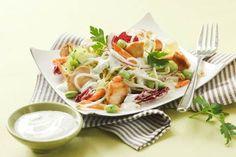 Passt zwar eher für den Sommer, aber auch im Winter ist so ein Fitness-Salat eine wilkommen Abwechslung am Speiseplan