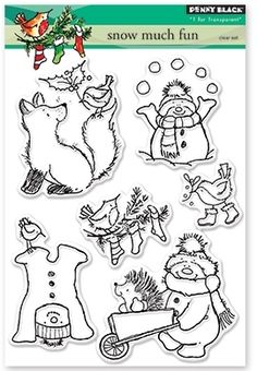 Penny Black Clear Stamps SNOW MUCH FUN 30-388 zoom image