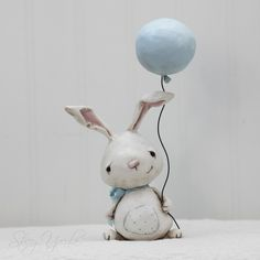 Sweet :::: Lilly - Paperclay bunny