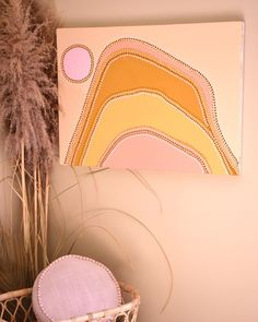 Rainbow Painting, Rainbow Art, Hand Painted Walls, Illustration Art, Illustrations, Paint And Sip, Abstract Canvas Art, Australian Art, Indigenous Art