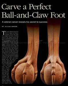 #1277 Carving Ball and Claw Foot - Furniture Legs Construction Techniques
