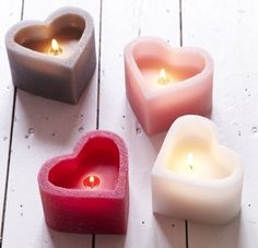 ❤️ Have a Heart Tea Lights . Candle Lanterns, Diy Candles, Scented Candles, Chandeliers, Candle In The Wind, I Love Heart, Candle Shop, Beautiful Candles, Candle Making