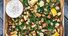 Halloumipytt med örtsmör och senapskräm med äpple Pasta Salad, Cobb Salad, Halloumi, Greens Recipe, Paella, Vegetable Pizza, Foodies, Vegetarian Recipes, Good Food