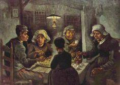 Vincent Willem van Gogh.  Die Kartoffelesser. 1885, Öl auf Leinwand, 81,5 × 114,5 cm. Amsterdam, Van Gogh Museum. Genremalerei. Niederlande und Frankreich. Neo-Impressionismus.  KO 01520