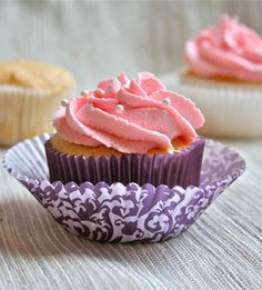 Angel Food Cupcakes with Whipped Cream