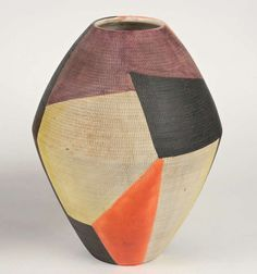 Anonymous; Glazed Ceramic Vase by Bitossi for Raymor, 1950s.