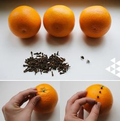 Swedish orange and clove pomanders by Hilda grahnat for The House That Lars Built