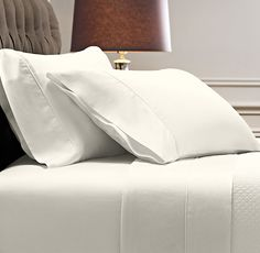 Italian Vintage-Washed 600 Sateen Sheet Set in Ivory from Restoration Hardware but in white