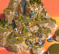Island Level Design(석광 섬) by BABY- J on ArtStation.