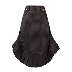 Stripy Black Steampunk Skirt with Miltary Style Tabs