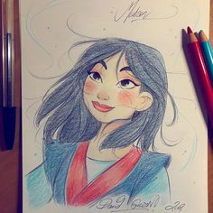 On poursuit aujourd'hui avec Mulan, toujours au. - The Art of David Gilson Disney Drawings Sketches, Disney Character Drawings, Cute Disney Drawings, Cartoon Drawings, Cute Drawings, Drawing Sketches, Drawing Disney, Princess Sketches, Disney Princess Drawings