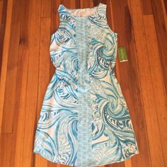 Lilly Pulitzer Winward Dress in Sea Ruffles Brand new with tags. Size small. 100% Pima cotton. Hidden tigers in print! No trades and posh only. Lilly Pulitzer Dresses