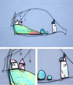 Glass Art by Maria Barber - Wall Art 'Twilight'