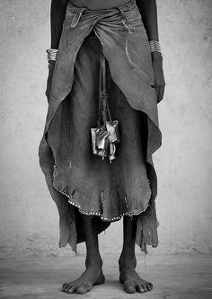 Dassanech tribe animal skin skirt, Omorate, Omo valley, Ethiopia by Eric Lafforgue © Eric Lafforgue www.ericlafforgue.com