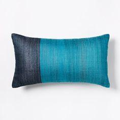 Sari Silk Pillow Cover - Blue Teal | west elm
