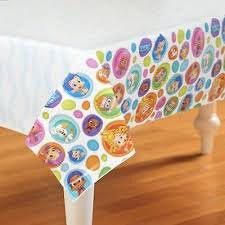 Bubble Guppies Party Favor TableCloth, Bubble Guppies Birthday Party Supplies Table Cloth Dinnerware (54 x 96 in)