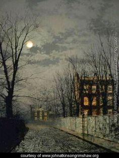 Winter Moonlight - John Atkinson Grimshaw - www.johnatkinsongrimshaw.org