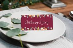 Paper Alphabet Wedding Invitations: This wedding place card design features a beautiful floral watercolour illustration with a classic calligraphy style script. Unique Invitations, Wedding Invitation Design, Printable Invitations, Baby Shower Invitations, Birthday Invitations, Watercolour Illustration, Alphabet Design, Wedding Place Cards, Name Cards