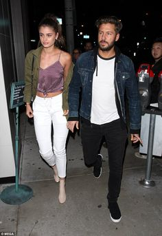 Gorgeous: Taylor Hill and boyfriend Michael Stephen Shank proved to be every inch the gene...