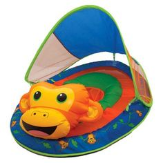 SwimWays Baby Spring Float Animal Friends with Sun Canopy - Monkey --- best baby pool float for the little one