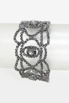 Crystal Delphine Bracelet in Black Diamond   Women's Clothes, Casual Dresses, Fashion Earrings & Accessories   Emma Stine Limited