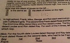 A headstrong student refused to answer a maths conundrum about dating habits   as it breaks the 'girl code' rules
