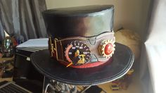 I made this hat and goggles for a steampunk themed wedding I went to a couple years ago