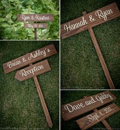 Love the wooden signs!