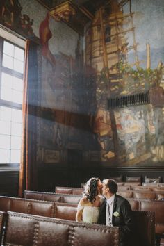 When you say you got married at the court house in SB - it is one of the most beautiful buildings in the city! SB Courthouse Mural Room
