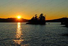 Zonsondergang foto Oceaan island foto kunst aan door Turtlesandpeace