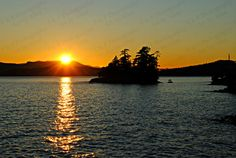 To view a larger picture please click on the ZOOM button that is just below the photo on the right.  Title: Sunset over the Ocean and Artist: Alisa Clarke LARGER SIZES available as I can a make separate listing JUST FOR YOU. Original photograph featuring the sun going down over the ocean off the coast of Saltspring Island, part of the Gulf Islands, BC, Canada.  This listing is for an 8 x 10 UNFRAMED print. All images are professionally printed.  Available in 5 x 7 for $11.96 CAD 8 x 10 for…
