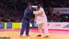 Juji Gatame — Teddy Riner doing a beautiful Uchi-Mata...