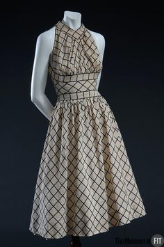 Claire McCardell dress with grid pattern, 1954. Collection of The Museum at FIT