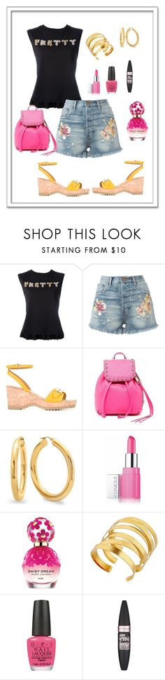 """""""Pretty, with Comfort & Style!"""" by rboowybe ❤ liked on Polyvore featuring Markus Lupfer, OneTeaspoon, STELLA McCARTNEY, Rebecca Minkoff, Clinique, Marc Jacobs, Hervé Van Der Straeten, OPI and Maybelline"""